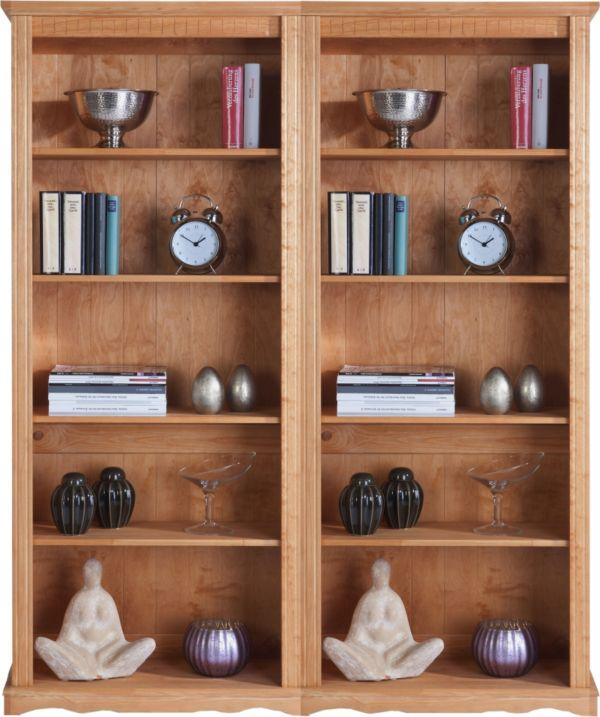 b cherregal kiefer massiv standregal regal wohnwand weiss mocca natur ebay. Black Bedroom Furniture Sets. Home Design Ideas