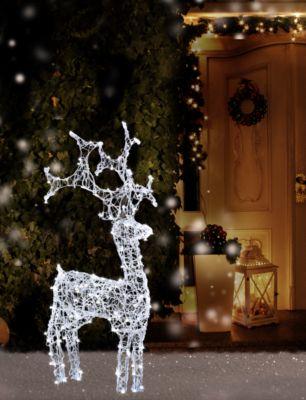 HS H&S Rentier Weihnachtsbeleuchtung für Außen 60 LEDS