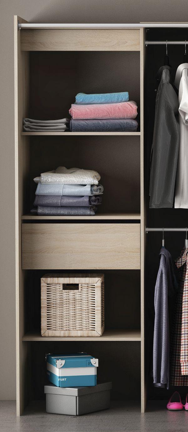 begehbarer kleiderschrank chicago stauraum aufbewahrung schrank 3 farben ebay. Black Bedroom Furniture Sets. Home Design Ideas
