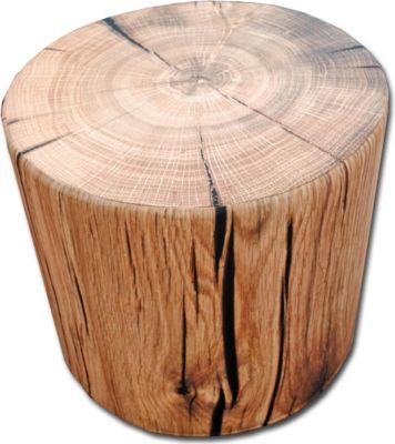 Sitzhocker rund Holz