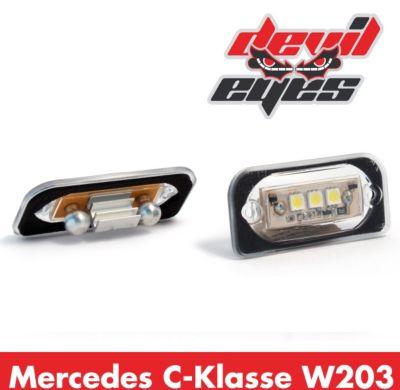 LED Kennzeichenbeleuchtung, Mercedes W203 C-Klasse Limousine