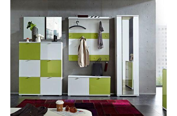 germania garderobe colorado wei gr n garderobenset. Black Bedroom Furniture Sets. Home Design Ideas
