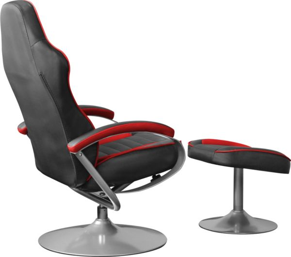 racing tv sessel relaxsessel gaming racer mit fu hocker. Black Bedroom Furniture Sets. Home Design Ideas