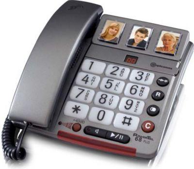 PowerTel 68 plus Großtasten-Telefon mit Anrufbeantworter