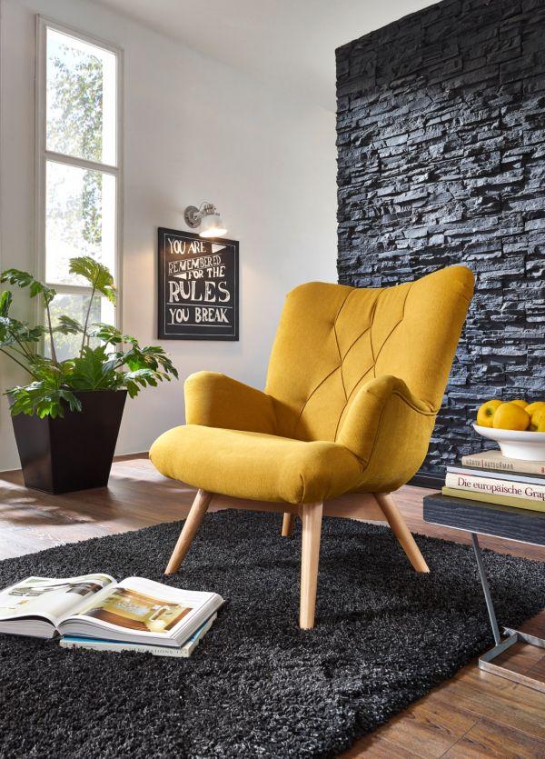 sessel glasgow polstersessel relaxsessel wings sessel retro 60er ebay. Black Bedroom Furniture Sets. Home Design Ideas