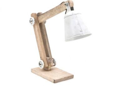 Tischlampe aus Massivholz
