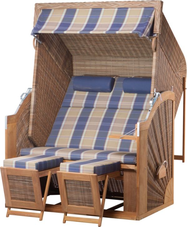 devries strandkorb trendy pure classic xl sun pe griseum gartenm bel ebay. Black Bedroom Furniture Sets. Home Design Ideas