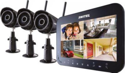 HS 1000 drahtloses Video-Überwachungssystem mit 3 Kameras