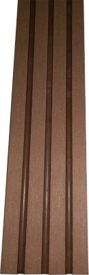 Gartenfreude  WPC - Abschlussleisten für Terrassendielen 220 x 5,5 cm, Materialstärke 0,9 cm, braun