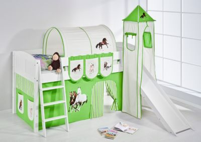 Spielbett IDA 4106 Pferde Grün