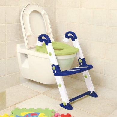 Toilettentrainer Kidskit 3-in-1 blue, weiß, lindgrün