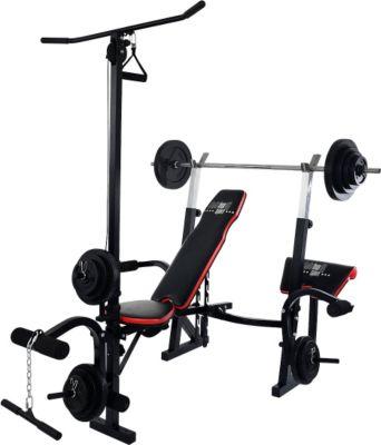 christopeit-sport-hantelbank-power-xl-38-5kg-gewichte-langhantelstange
