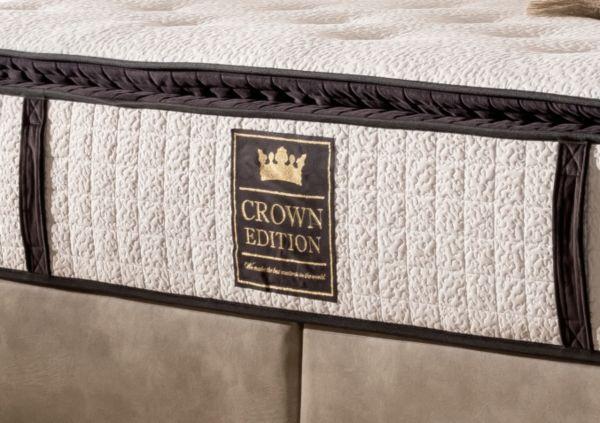 crown boxspringbett london deluxe hotelbett amerikanische betten schwedenbett ebay. Black Bedroom Furniture Sets. Home Design Ideas
