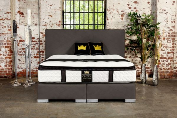 crown boxspringbett angel deluxe hotelbett amerikanische. Black Bedroom Furniture Sets. Home Design Ideas