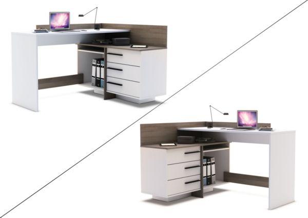 Eckschreibtisch thales schreibtisch computertisch pc for Schreibtisch thales