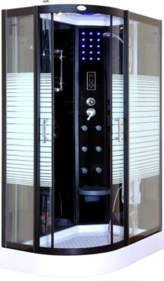 Home Deluxe Black Crystel Dampfduschkabine 120x...