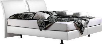 bett weiss leder 180x200 preisvergleich die besten angebote online kaufen. Black Bedroom Furniture Sets. Home Design Ideas