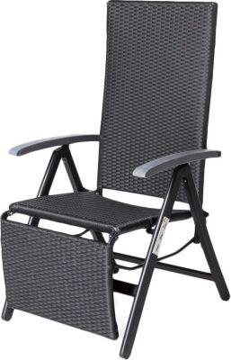 Geflecht Relax-Sessel schwarz