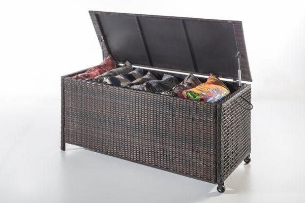 geflecht kissenbox gartenkissenbox gartenbox kiste. Black Bedroom Furniture Sets. Home Design Ideas