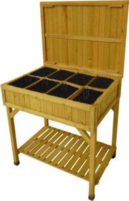 takasho 97066 kr uterhochbeet mit pflanztisch 78 x 58 x. Black Bedroom Furniture Sets. Home Design Ideas
