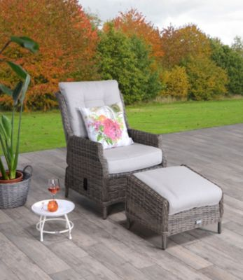 Garden Impressions  Relaxstuhl Enschede mit Fußbank - New Kubu
