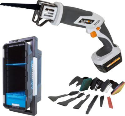 Saw-Kit Multifunktionssäbelsäge 18 V im BluCave-Koffer