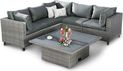 Best Freizeitmöbel 6-tlg. Lounge Gruppe Bonaire inkl. Auflagen