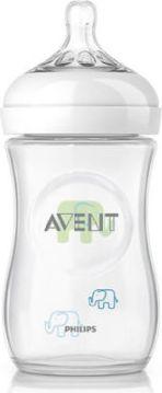 Philips AVENT SCF627/17 Naturnah-Flasche 260 ml Elefanten für Jungs