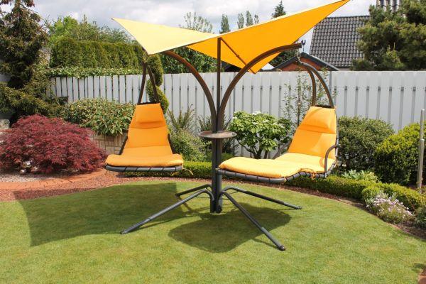 leco schwingliege double swing gartenliege relaxliege sonnenliege liegestuhl ebay. Black Bedroom Furniture Sets. Home Design Ideas