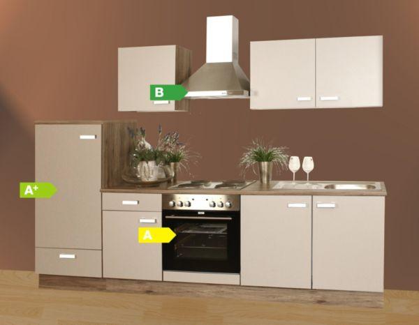 menke k chen k chenzeile lena 270 cm k chenblock k che k chenschr nke ebay. Black Bedroom Furniture Sets. Home Design Ideas
