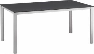Tisch Kettalux, silber/anthrazit, 160 x 95 cm