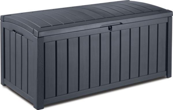 keter glenwood box 390 liter auflagenbox aufbewahrung kissenbox gartenbox ebay. Black Bedroom Furniture Sets. Home Design Ideas