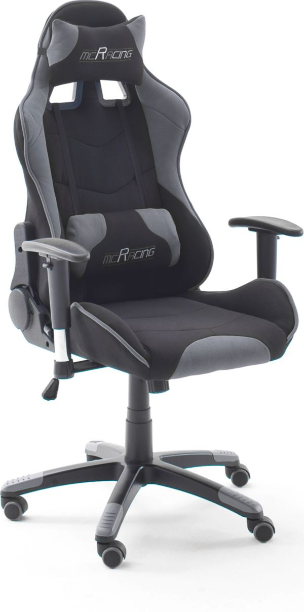 mca chefsessel mcracing stoff 1 2 gamer stuhl gaming stuhl racer ebay. Black Bedroom Furniture Sets. Home Design Ideas