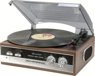 PL186H Nostalgie Plattenspieler mit Radio, eingebaute Stereolautsprecher