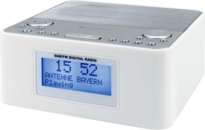 Soudmaster UR170WE DAB+ Radiowecker mit Festsenderspeicher - weiß