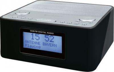 Soudmaster UR170SW DAB+ Radiowecker mit Festsenderspeicher - schwarz