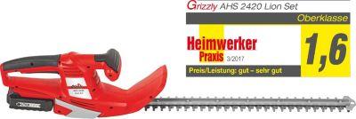 Grizzly  AHS 2420 Lion Akku-Heckenschere Set inkl. Akku + Ladegerät, 24-Volt-Akku-System