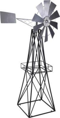 Deko Windmühle Metall mit Windrad