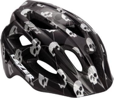 Kinder Fahrradhelm Nut´z Skulls Black Gr. 50-56 cm + Crazy Nutshell