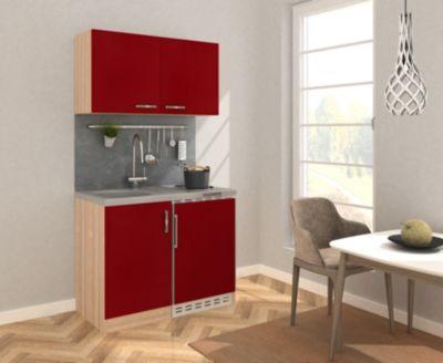 Respekta Miniküche MK100ESROS 100 cm rot - Kochmulde | Küche und Esszimmer > Küchen > Miniküchen | Respekta kitchen economy
