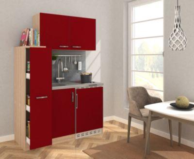 Respekta Miniküche MK130ESROSC 130 cm rot - Glaskeramikkochfeld | Küche und Esszimmer > Küchen | Respekta kitchen economy