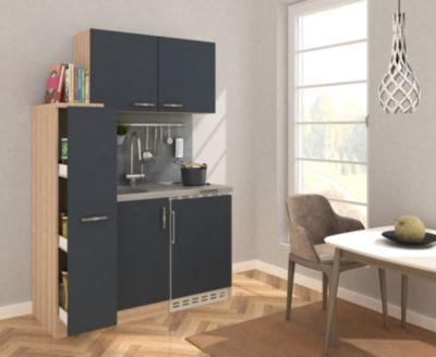 Respekta Miniküche MK130ESGOS 130 cm grau - Kochmulde | Küche und Esszimmer > Küchen > Miniküchen | Respekta kitchen economy