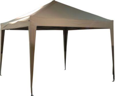 h s pavillon faltbar 300 x 300 cm taupe baumarkt xxl. Black Bedroom Furniture Sets. Home Design Ideas