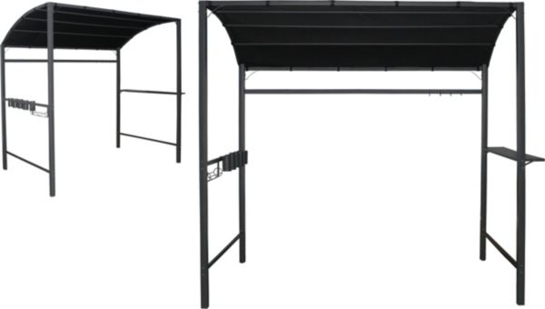h s grill pavillon 233x145 grau gartenpavillon. Black Bedroom Furniture Sets. Home Design Ideas