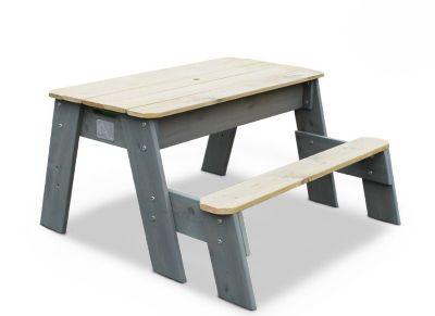 Aksent Sand-, Wasser- und Picknicktisch, 1 Sitzfläche inkl. Sonnenschirm und Gartenwerkzeug