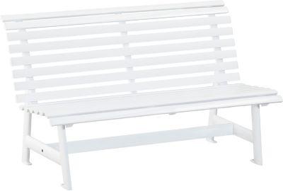 Alu-Gartenbank, 3-Sitzer weiß