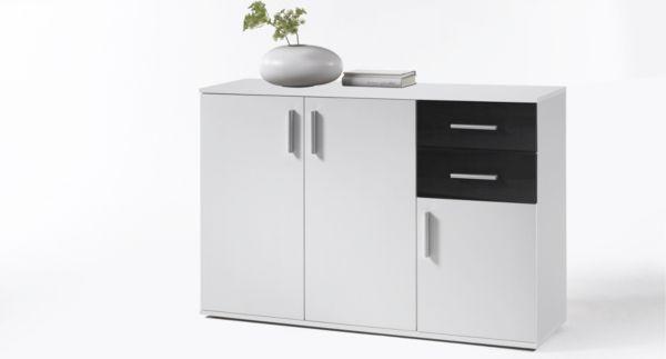 kommode 120 cm breit bobby anrichte sideboard stauraum. Black Bedroom Furniture Sets. Home Design Ideas
