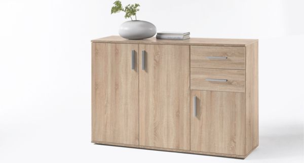 kommode 120 cm breit bobby anrichte sideboard stauraum m bel ebay. Black Bedroom Furniture Sets. Home Design Ideas