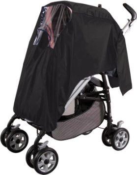 Regenschutz für Buggy mit Dach Schwarz