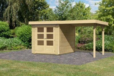 woodfeeling askola 2 gartenhaus mit schleppdach baumarkt xxl. Black Bedroom Furniture Sets. Home Design Ideas